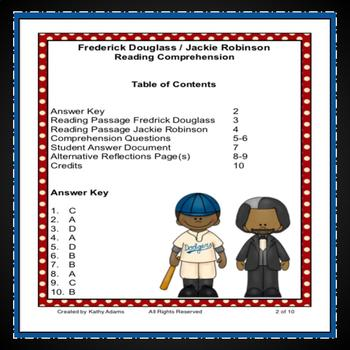 Frederick Douglass and Jackie Robinson Paired Reading Comprehension