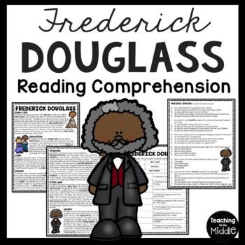 Frederick Douglass biography & questions, slavery, Civil War, Civil Rights
