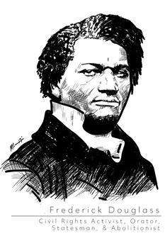 Frederick Douglass Art Print /'Hope/' Poster Gift Civil Rights Abolitionism