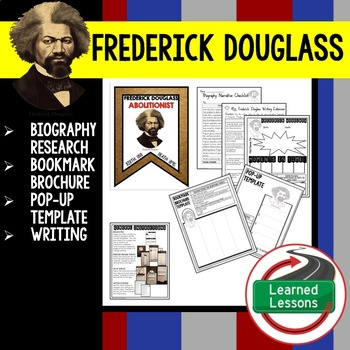 Frederick Douglass Biography Research, Bookmark Brochure, Pop-Up, Writing