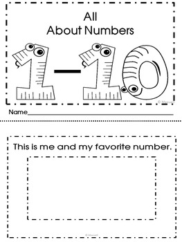 Free! 1-10 Booklet Of Number Sense Forms