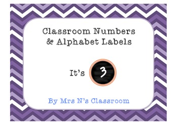 Labels for Classroom - Numbers + Alphabet {Free}
