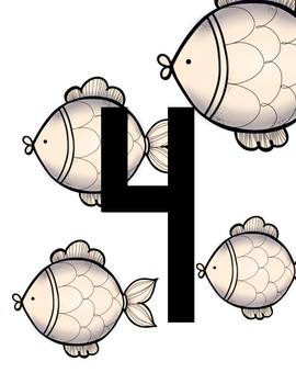 Free: 1 to 10 Counting Fish Cards