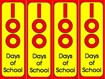 100th Day of School Bookmarks!   Color and Blackline
