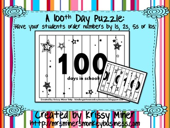 Free 100s Day Puzzle-Differentiated