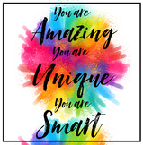 Growth Mindset- Free 11x17 You are amazing Mindful Poster, Inspirational