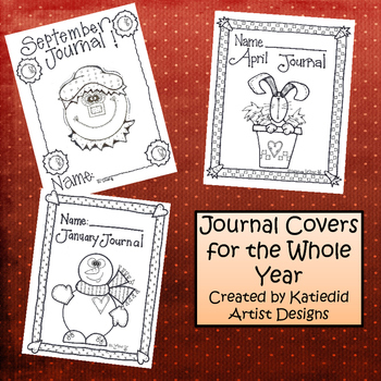 12 months Journal Covers