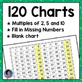 120 Charts with Missing Numbers!  Blank 120 Chart!  Printable 120 Grids! PDF