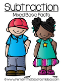 Quick and Easy to Prep Mixed Subtraction Basic Facts Center Freebie