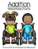 Quick and Easy to Prep Mixed Addition Basic Facts Center Freebie