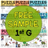 Free 1st Grade Math Crossword Puzzles Sample