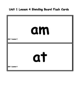 Free 1st Grade SRA Imagine It Unit 1 Lesson 4 Blending Board Large Flash Cards