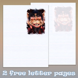Free 2 page letter templates - Frosty the pixie