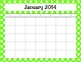 Free 2013-14 School Calendar Pages Bunches of Polka Dots Theme
