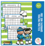Free 2018 Calendar for Tracing Practice