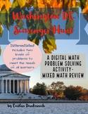 Differentiated Math Test Prep- Washington DC Digital Scavenger Hunt