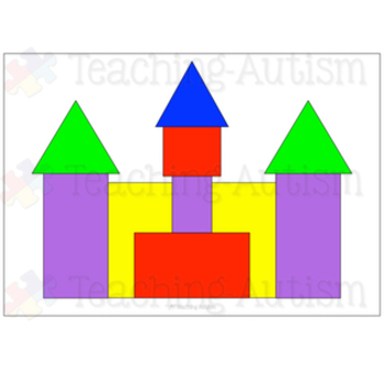Free 2D Shape Castle Building