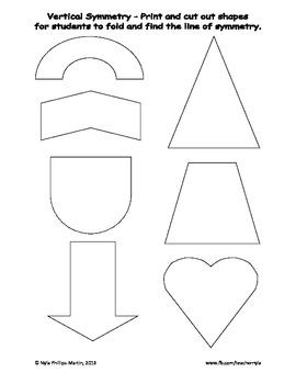 Free 2D Shape Cut-Outs for a Symmetry Hunt