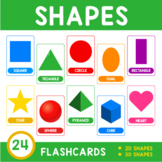 Free Shape Flashcard Set • 26 Cards • Upper and Lowercase • Multiple Print Sizes
