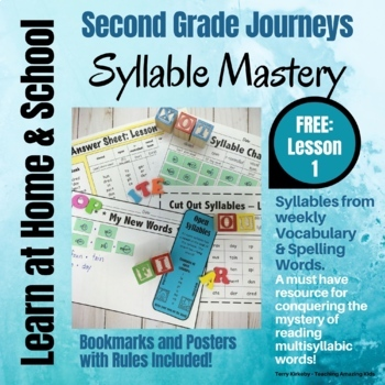 Free: 2nd Grade - Help! I Can't Read Multisyllabic Words - Journeys