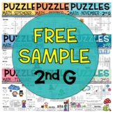 Free 2nd Grade Math Crossword Puzzles Sample
