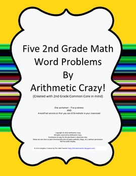 Free:  2nd Grade Math Word Problems