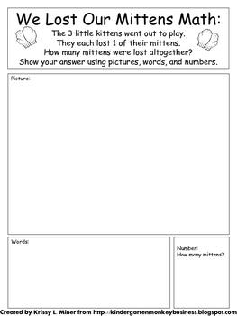 Free 3 Little Kitten Math and Literacy Activity Sampler