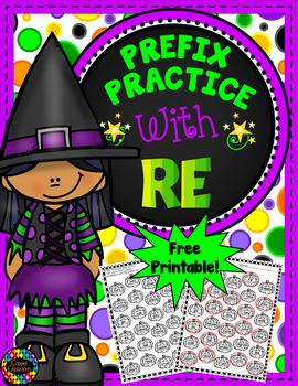 Free 3.RF.3 Halloween Themed Prefix Printable