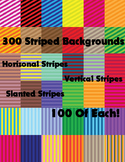 300 Striped Backgrounds