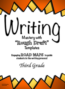 """Free - 3rd Grade:  Writing Mastery with """"Rough Draft"""" Templates (Journeys)"""