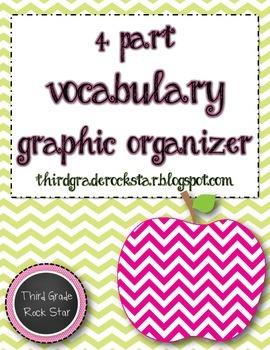 *Free* 4 Part Vocabulary Graphic Organizer
