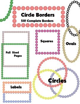 50 Dot Themed Borders