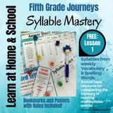 Free: 5th Grade - Help! I Can't Read Multisyllabic Words - Journeys