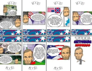 Gettysburg Address Mini Book and Template