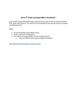 Free 8th Grade Curriculum