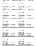 Free 8th Grade Formula Reference for Students (16 per page)