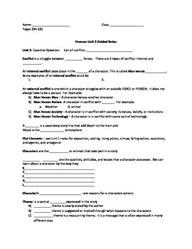 Free 8th Grade Guided Notes For Unit 2 Princeton Hall / Pearson Text