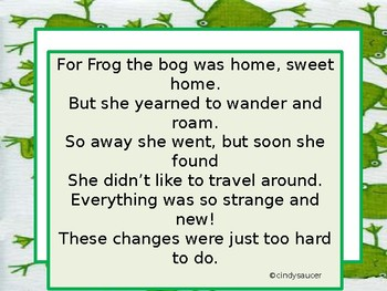 Free,  A Froggy Fable,  Day 1,, 2nd Grade