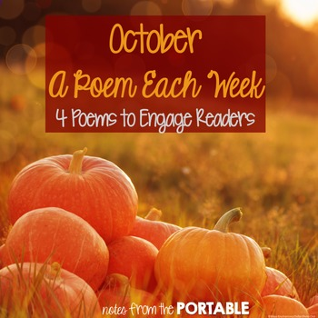 A Poem Each Week - October Edition