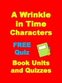 A Wrinkle in Time FREE Characters Quiz Activity