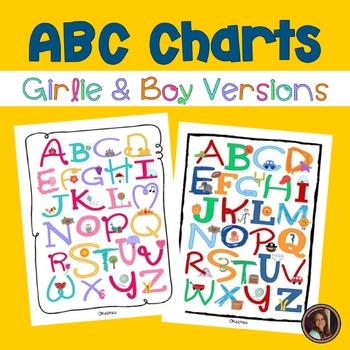 ABC Alphabet Letter Sound Charts *FREEBIE* {Girly & Boy Versions}
