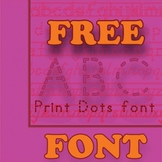 Free ABC Print Dotted Font