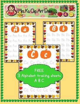Free ABC tracing sheets