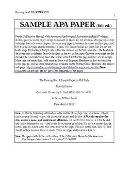 free apa style paper template by handouts teachers pay teachers