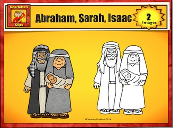 Free Abraham, Sarah, and Isaac Clip Art Sample by Charlotte's Clips