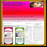 """Accepting """"No,"""" For An Answer - SPED Social Skills Printables Packet"""