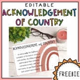 Free Acknowledgement of Country Poster - First Nations Australia