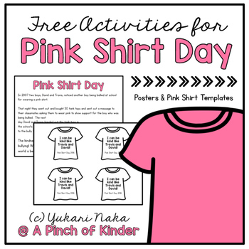 Free Activities for Pink Shirt Day
