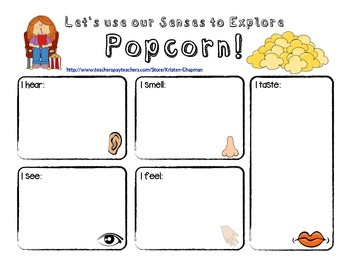 Free Activity - Exploring Popcorn with Five Senses