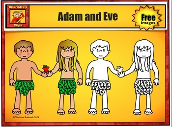 Free Adam and Eve Clip Art Sample by Charlotte's Clips